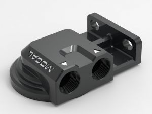 Mocal High Flow Billet Remote Filter Head - Ports on Right - RFH3BB